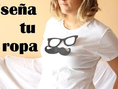 Diseña tu camiseta con plantillas intercambiables de foami o goma eva
