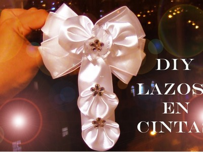 DIY accesorios de moda lazos para el cabello en cintas -fashion accessories hair in satin ribbons