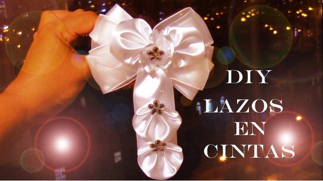DIY accesorios de moda lazos para el cabello en cintas -fashion accessories hair in satin ribbons