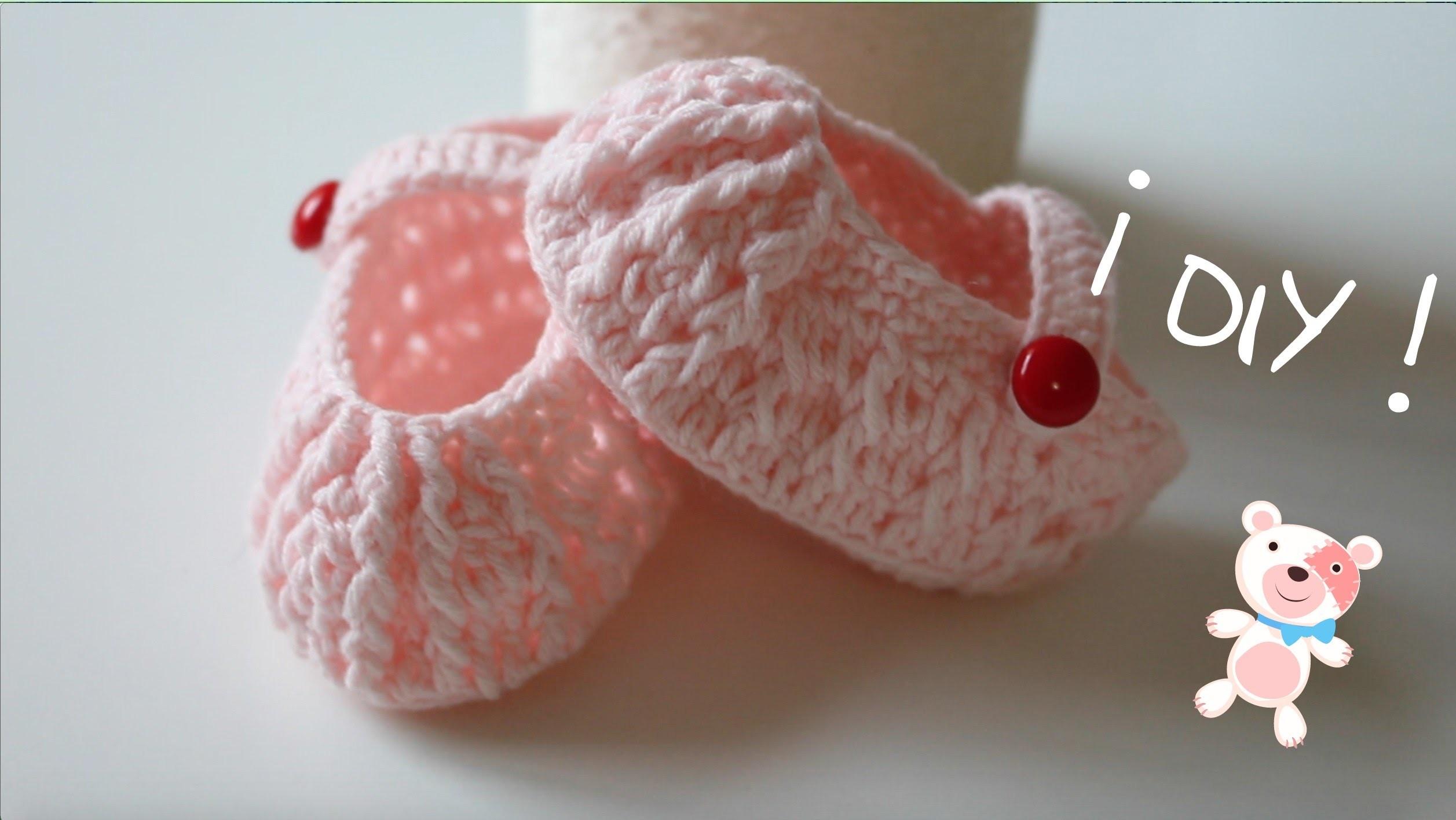 DIY, Como hacer unos zapatitos de bebe. Baby shoes.cucaditasdesaluta