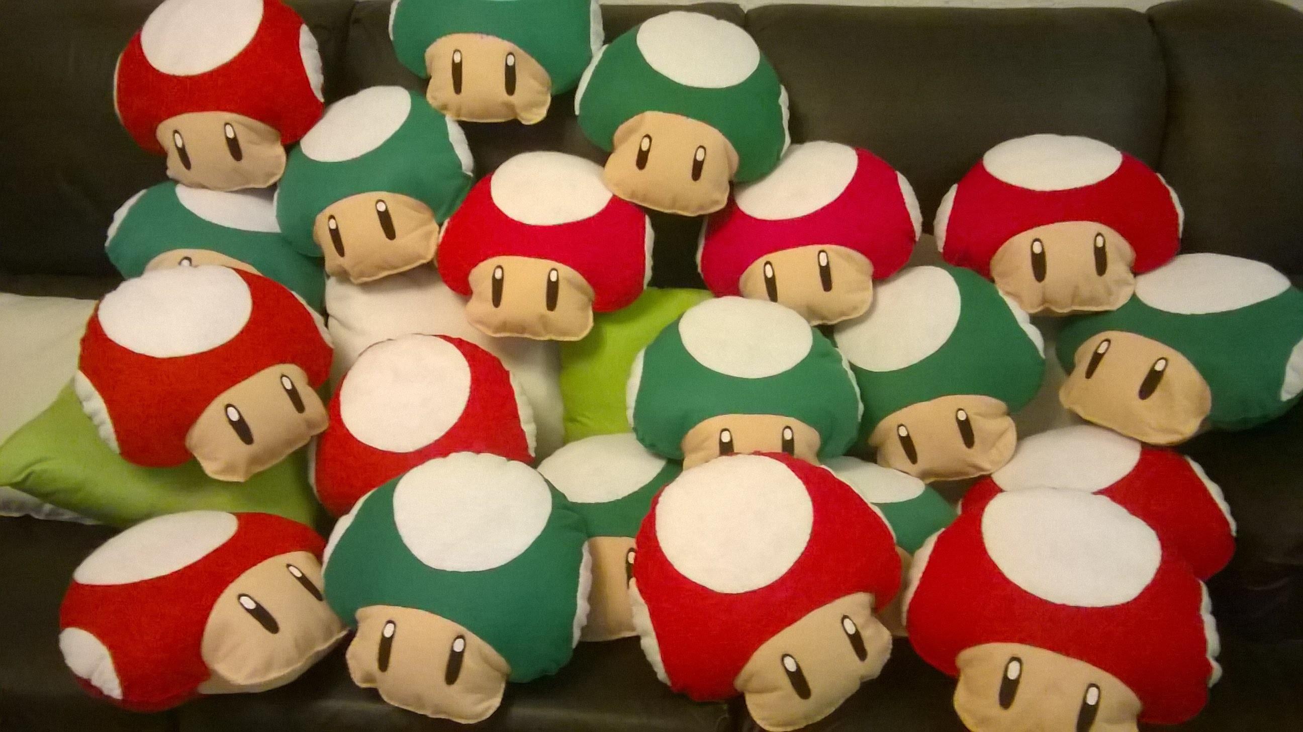 DIY Hongos de Mario y Luigi bros de fieltro!!