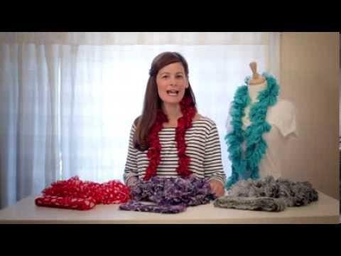 Estambres Boutique Sassy Fabric y Boutique Sassy Lace de Red Heart