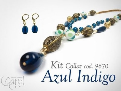 KIT 9670 Kit Collar azul indigo