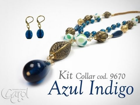 KIT 9670 Kit Collar azul indigo