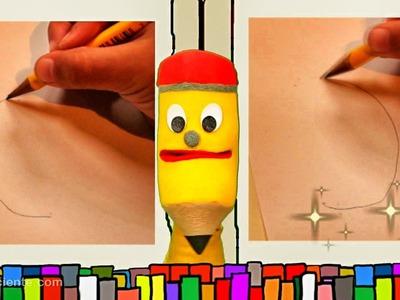 La Media Luna - Aprendemos a escribir con Jack el lápiz escritor- Videos educativos para niños