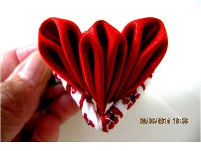 Moños para el cabello  corazón de flores en cintas