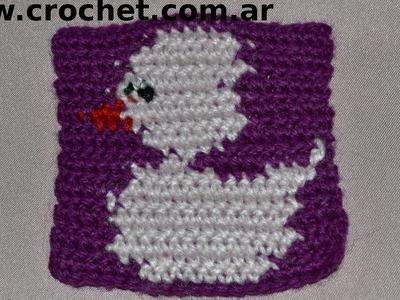 Motivo N° 12 en tejido crochet tutorial paso a paso.