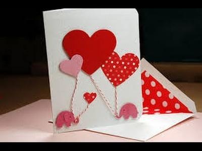 Postal o tarjeta de amor, para día de San Valentín de diseño original
