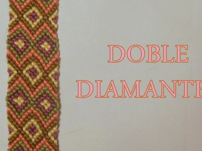 Pulsera de Hilo: Doble Diamantes