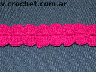 Puntilla N° 58 en tejido crochet tutorial paso a paso.
