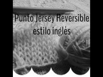 Punto Jersey Reversible al estilo inglés - Soy Woolly