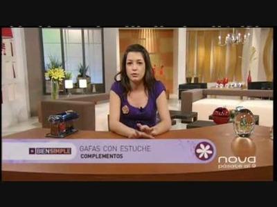 Silvia Mijangos decora unas gafas con arcilla polimérica utilisima bien simple