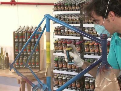 Tutorial - Cómo pintar un cuadro de una bicicleta con spray paso a paso y qué productos usar.
