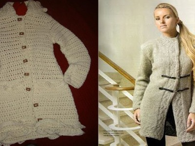 Abrigos y Tapados Mujer tejidos a Crochet ( Imagenes )