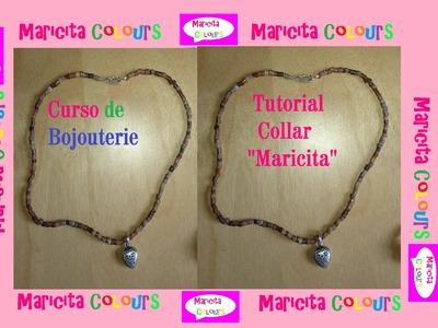 """Bijouterie """"Collar Maricita"""" Tutorial Gratis por Maricita Colours"""