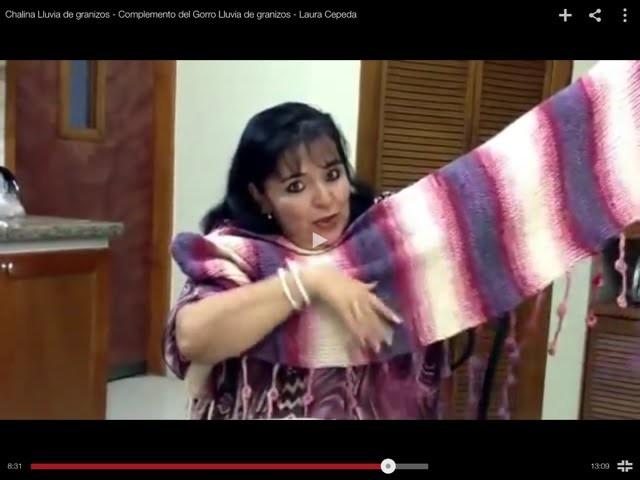 Chalina Lluvia de granizos - Complemento del Gorro Lluvia de granizos - Tejiendo con Laura Cepeda