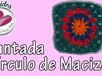 """""""Círculo con macizos"""" Tejidos en cuadrito Cap. 2"""