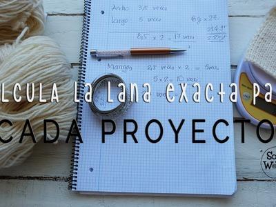 Cómo calcular el hilo que necesitas para tejer cualquier proyecto