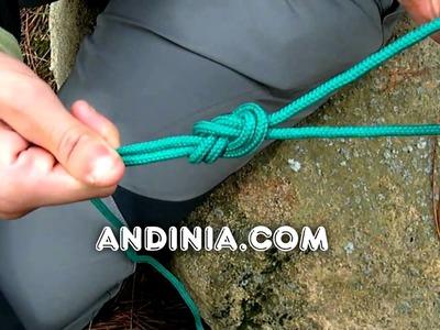 Cómo hacer el Nudo de ocho doble - Double figure-eight knot (figure-eight loop)- Nó em oito duplo