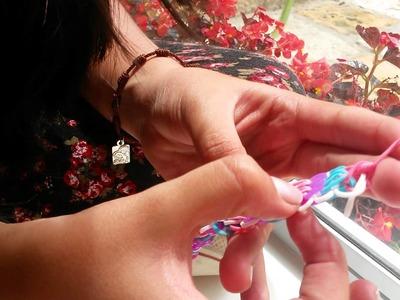 Como hacer manillas con cauchos? con telar PARTE 2