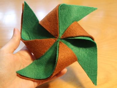 Cómo hacer un molinillo de viento con fieltro | facilisimo.com
