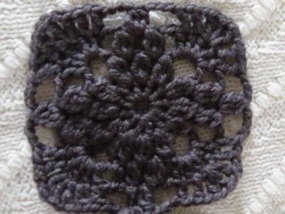 Como Tejer cuadro con bodoques a crochet  paso a paso