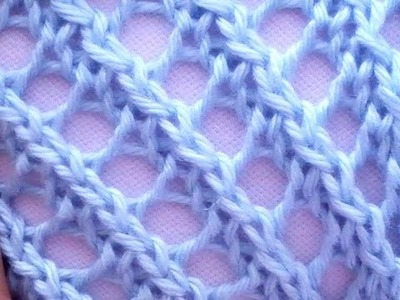 Como Tejer Encaje Diagonal-Diagonal Lace Stitch 2 Agujas (29)
