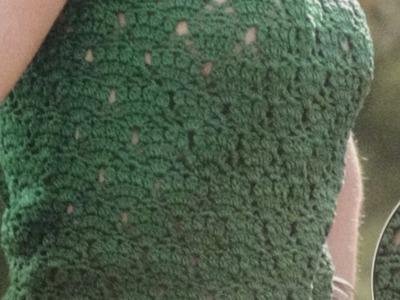 Como Tejer fácil blusa punto calado a crochet