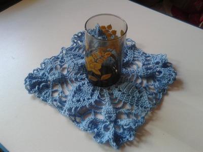 Cómo tejer un posavasos a gancho o crochet. 1a. de 3 partes.
