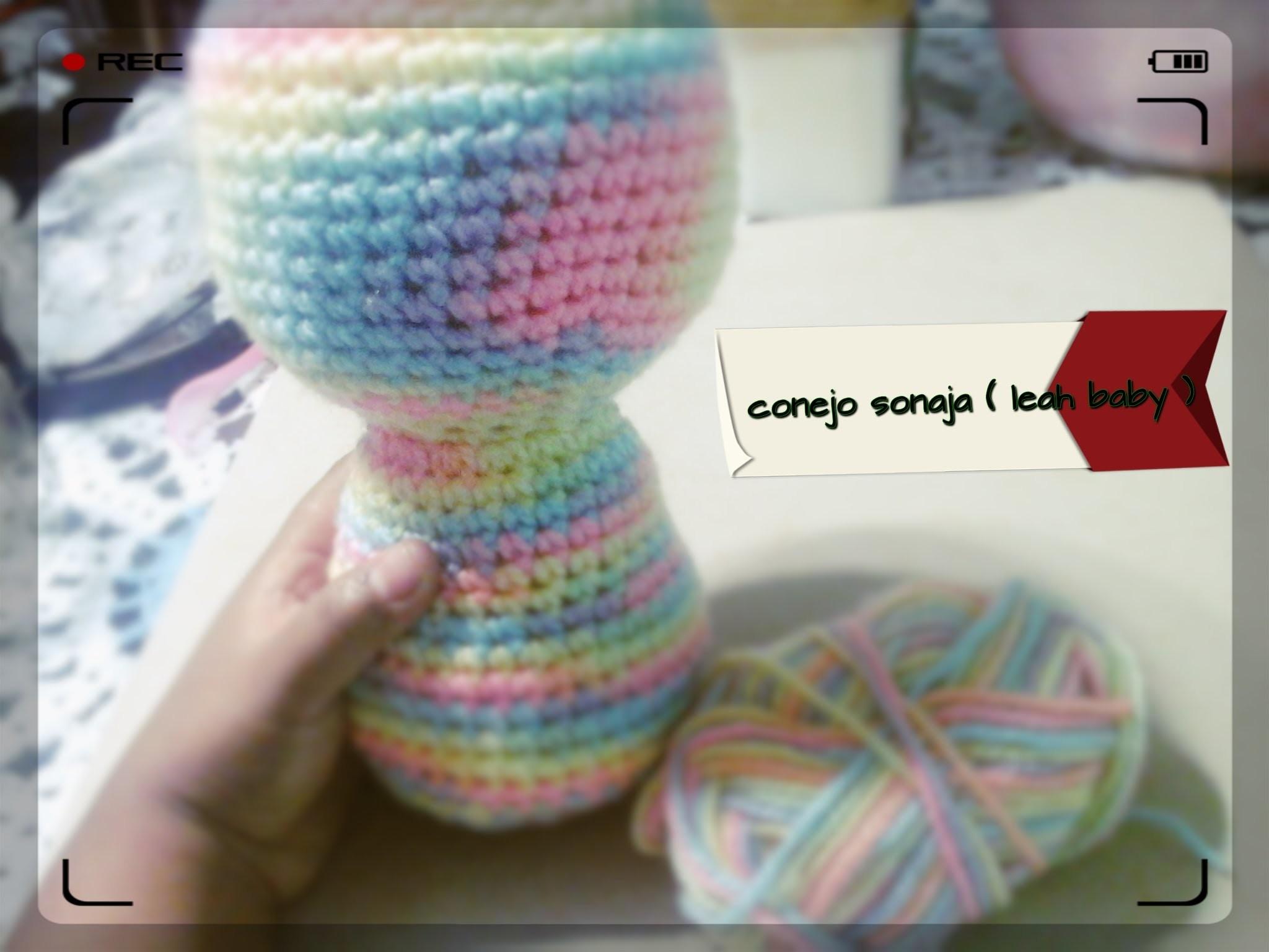 CONEJ@ SONAJA PARTE 1 CABEZA Y CUERPO ( leah baby) DE TODO !!! recetas reciclaje y crochet