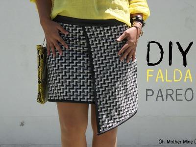 DIY Costura de falda pareo blanca y negra (patron gratis)