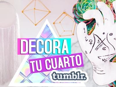 DIY: Decora tu cuarto. Estilo Tumblr Ft. Jimena Aguilar