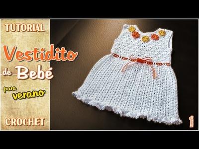 DIY Vestido para niña tejido a crochet - Primavera verano (1 de 2)