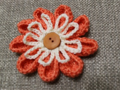 Flor # 16 Crochet dos Colores