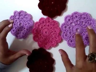 Flor a crochet.