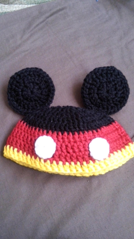 Gorro mickey mouse a crochet parte 1
