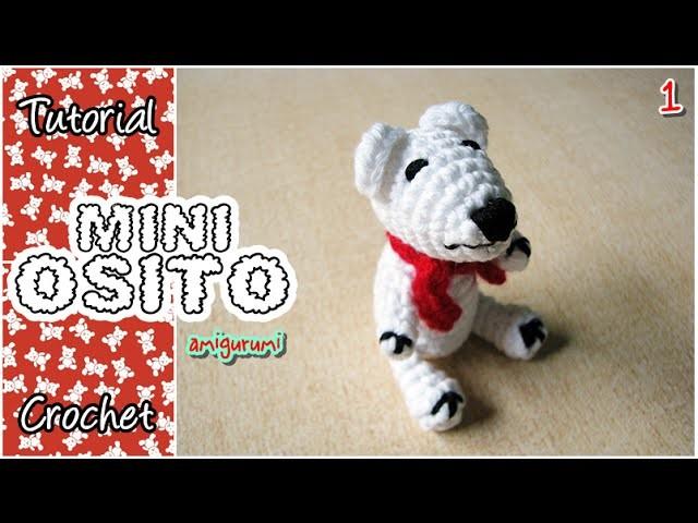 Mini osito polar amigurumi a crochet - PARTE 1