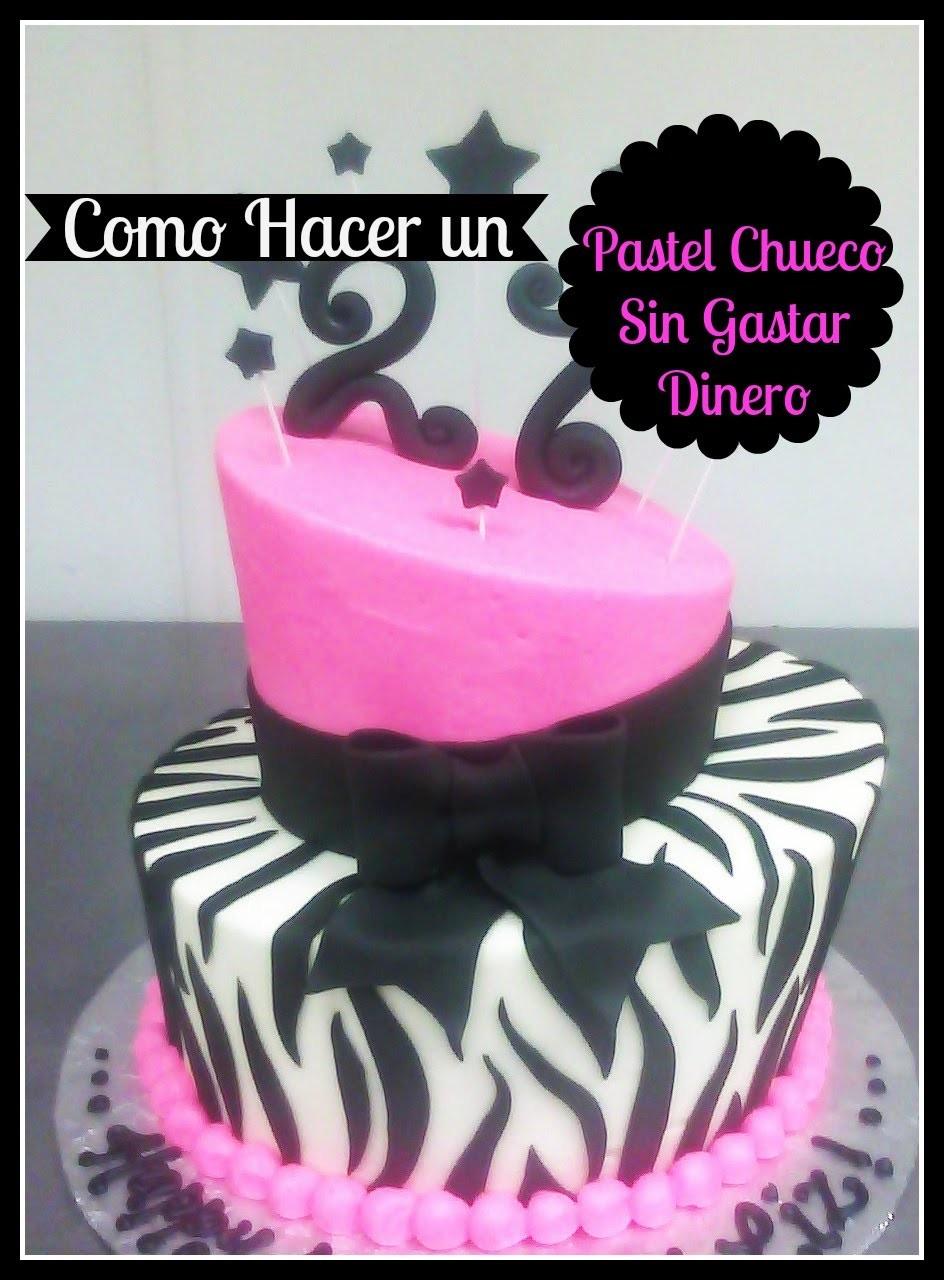 Pastel Chueco Sin Gastar En Moldes (Topsy Turvy Cake) - Madelin's Cakes