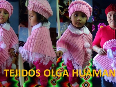 Poncho tejido a crochet para bebe o niña paso a paso