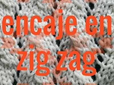 Punto de Encaje en Zig Zag - Soy Woolly