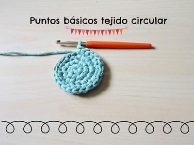 Puntos básicos ganchillo tejido circular