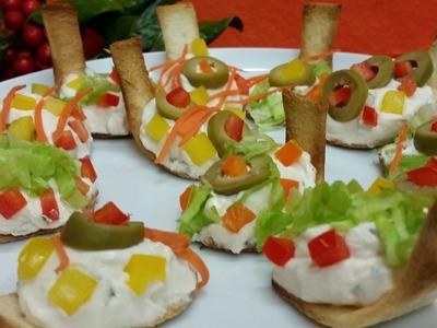 """Receta: Canapés en """"cucharitas comestibles"""" (Navidad y Año Nuevo)"""