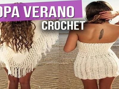 Ropa Verano Mujer - Blusas Vestidos - Tejidos a Crochet ( IDeas y Diseños )