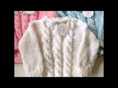 Saquitos de lana tejido para bebés