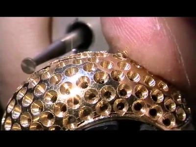 Taller de joyería   haciendo un pavé de diamantes   cut