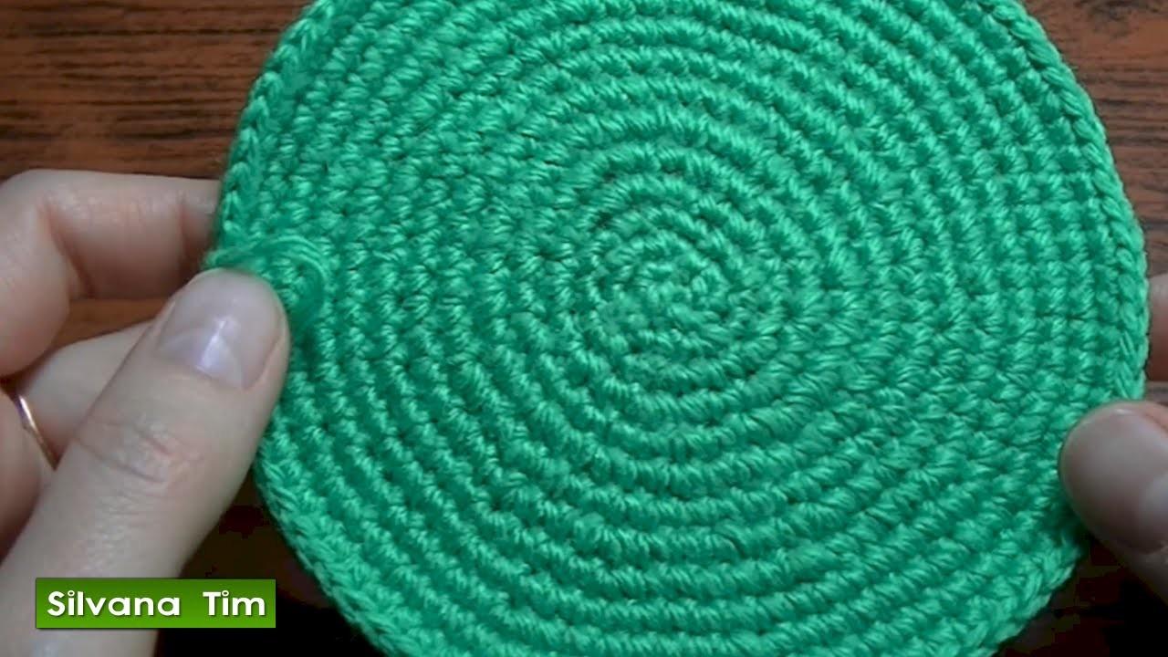 Tejido en redondo o Trabajo en círculo en crochet. Cómo tejer círculo a ganchillo.