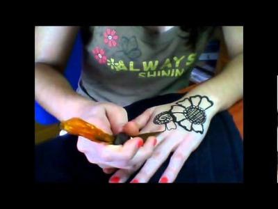 TUTORIAL 1: Diseño floral tatuaje henna