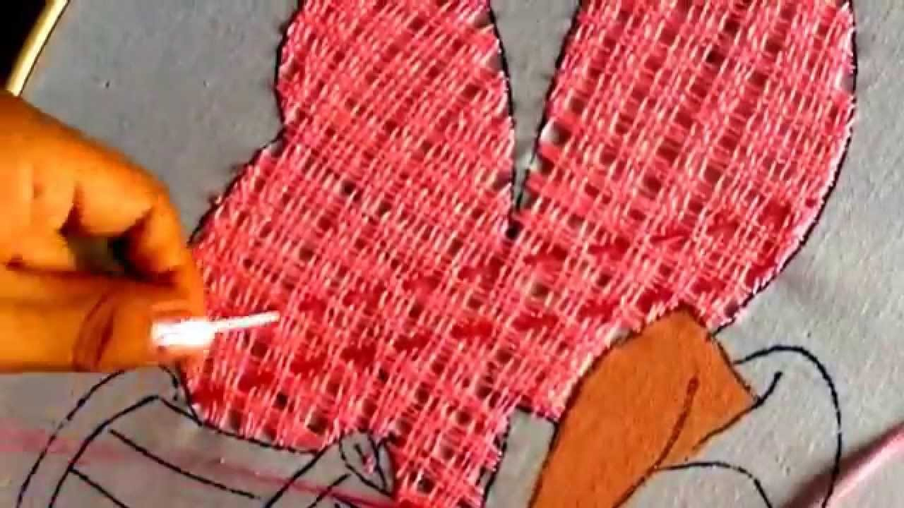 29.- bordado fantasía puntada para falda de princesa