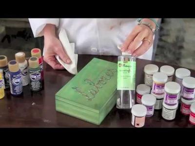 Caja de labores y marco con pátina vintage DIY