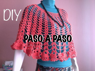 Capa Poncho Mañanita #Crochet #Ganchillo Cape Lay out #Diy